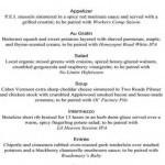 The DELICIOUS menu.